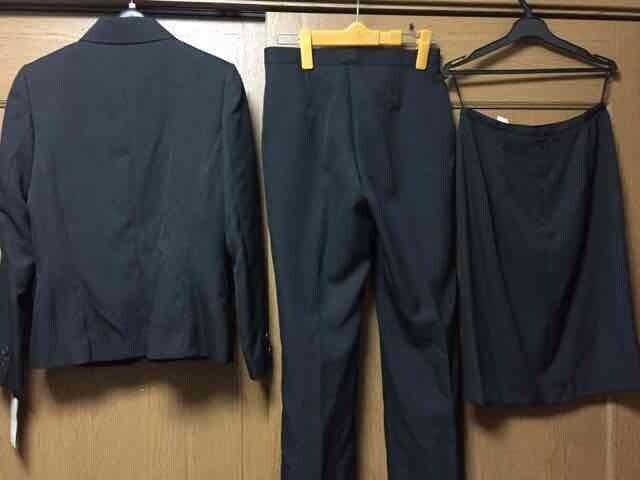 新品☆11AR67 リクルート 3点スーツ☆オフィススーツ3点セットa < 女性ファッションの