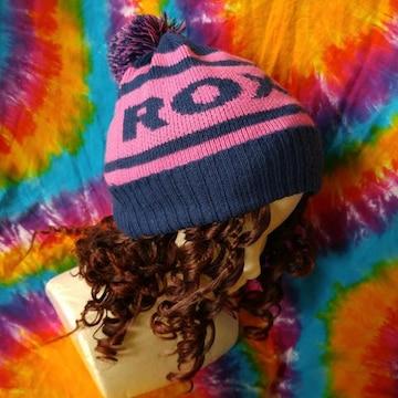 激カワッ(*^ω^)Roxyロキシー■ロゴニット帽子◆スキースノボに