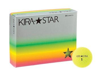 ゴルフボール KIRA STAR2 イエロー