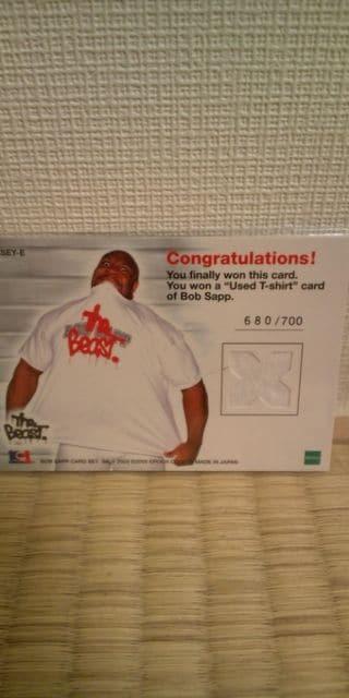 2003 ボブサップ Tシャツ カード < トレーディングカードの