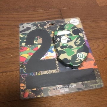 即決 20周年 A BATHING APE エイプ iPhone5 ケース