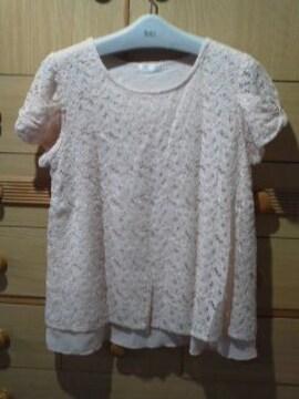ドレスキップ(ワールド)総レース 裾シフォン《L》送料180円