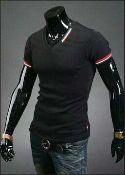 3color Tシャツ Vネック M〜XXLストレッチ