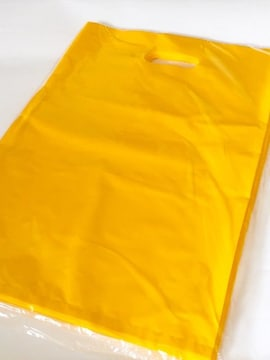 大型〈サフランイエロー〉ハード型発送用ビニールバッグ(50枚)未開封