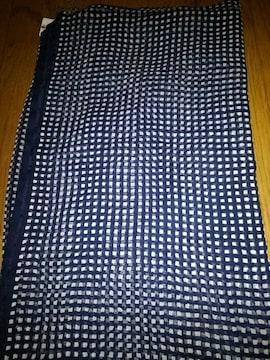 生地 濃紺に水玉が可愛い 116×200