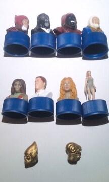 猿の惑星ボトルキャップ8種+オマケ(モバイルフォン・アンテナヘッド2種)