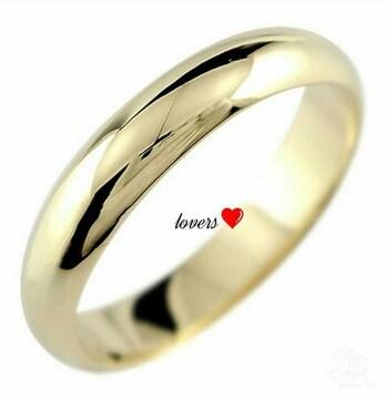 送料無料8号ゴールドサージカルステンレスシンプルリング指輪
