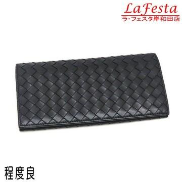 本物程度良◆ボッテガヴェネタ【人気】2つ折り長財布(札カード
