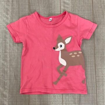 女の子かわいい半袖Tシャツ100ピンク