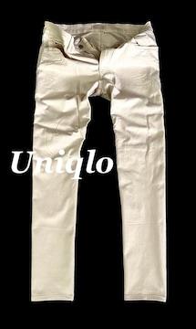 【UNIQLO】ユニクロ ストレッチスリムフィットジーンズ 34/White