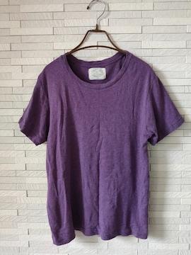 Ungrid/コットンゆったり半袖Tシャツ/パープル/無地フリーサイズ