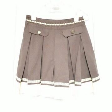 【新品】バイカラープリーツキュロット/アクシーズファム