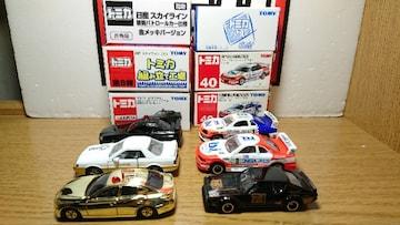 1スタ★トミカ6台日産スカイラインセット★赤箱/非売品/くじ/アピタ/組立★