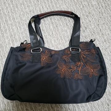 未使用 刺繍がステキな ハンドバッグ BK