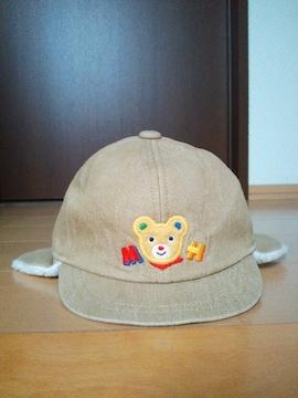 中古 耳つきキャップ帽 帽子 ミキハウス