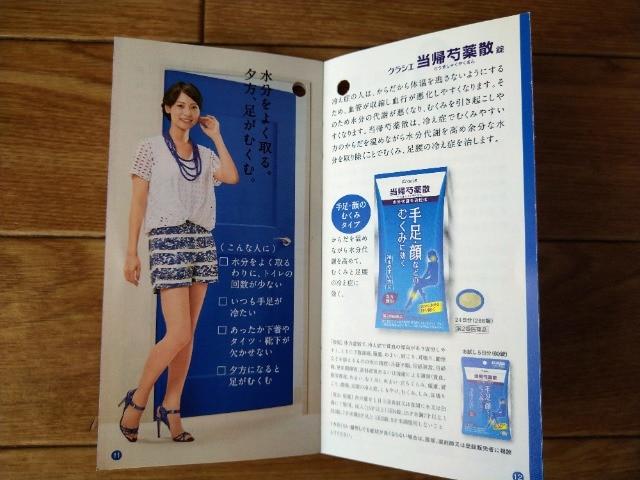 相武紗季 パンフレット クラシエ薬品 コッコアポ < タレントグッズの