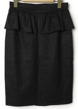 AULA AILAアウラアイラ☆黒ペプラムタイトスカート