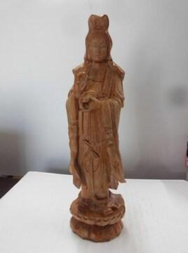 大特価スタート価格!秀作の逸品 木彫 観音様 高さ29cm