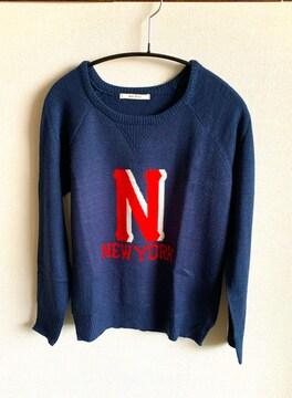 美品◇アヴァンリリィ◇フロント刺繍◇サマーニットセーター