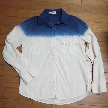 新品AZULbymoussy★段染めWポケット長袖シャツ