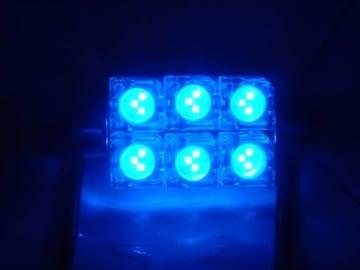 激照! T10×42FLUX6連LEDルームランプ ブルー