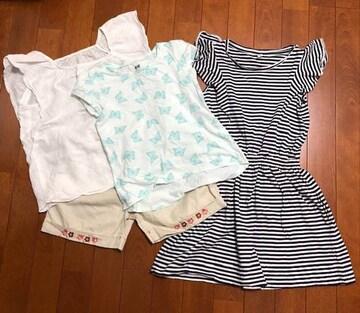 女の子子供服☆H&Mユニクロまとめ売り4枚110〜120cm