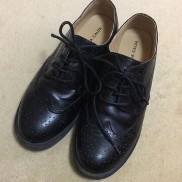 子供用 合皮のひも靴 24.0