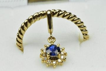 K18 サファイア ダイヤモンドリング 11号 指輪