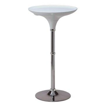 ラウンドバーテーブル ハイタイプ WCH-60WH ホワイト