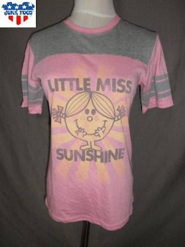 USA製【JUNKFOOD】Little Miss 【SUNSHINE】プリントT US M Pink