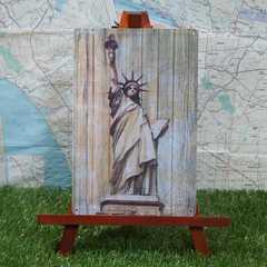 新品【ブリキ看板】Statue of Liberty/自由の女神像