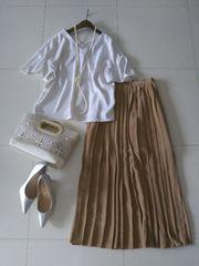 Sleek◆パンツより軽くて涼しい♪プリーツマキシスカート