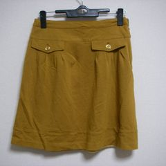 黄土色 W64 ひざ上 スカート