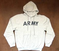 アメリカ軍 ARMYスウェットレプリカパーカー 灰 グレー M