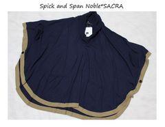 スピックアンドスパン*Spick and Span Noble*SACRAニットポンチョ新品コン