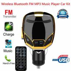 FMトランスミッター  Bluetooth ハンズフリースマホ ゴールド