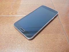 即落/即発!!美中古品 SCL23 Galaxy S5 チャコールブラック