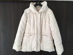 カモフラ柄迷彩白ホワイトアイボリーダウンコートジャケットアウターレディースフェザー