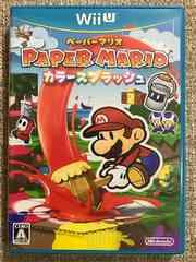 ペーパーマリオカラースプラッシュ 新品同様 WiiU