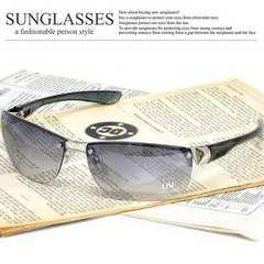 新品 サングラス メンズ オラオラ系 リームレス UVカット チョイ悪 ブロー 伊達眼鏡 87