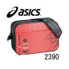 人気カラー ASICSショルダーバッグEBG347レッドブラック