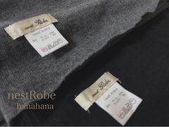 nestRobe★ネストローブwoolカシミヤ大判ニットストールgrey