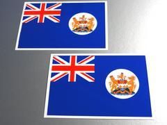 ■旧イギリス領時代・香港旗ステッカー2枚セット■中国