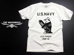 極厚!スーパーヘビーウェイトTシャツ・米海軍ペンギンモデルL