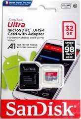 アダプター付き 32GB サンディスク microSDHC クラス10(マイクロSDHCカード)