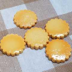 102 M ☆ 5 コ ☆ クッキー ビスケット  約 2 cm デコ パーツ