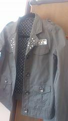 Mサイズ!襟元のパールビーズが、素敵な新品!ジャケット