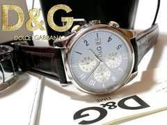 良品 1スタ★ドルガバ/D&G【専用箱・ギャラ付】クロノ 腕時計