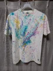 ARMERS アーマーズ ユーズド加工 ペイント プリント 半袖Tシャツ Sサイズ 36-38 白