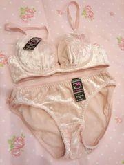 〓優しいピンクのキティちゃんブラ&ショーツセット〓〓B70Mサイズ新品未使用〓
